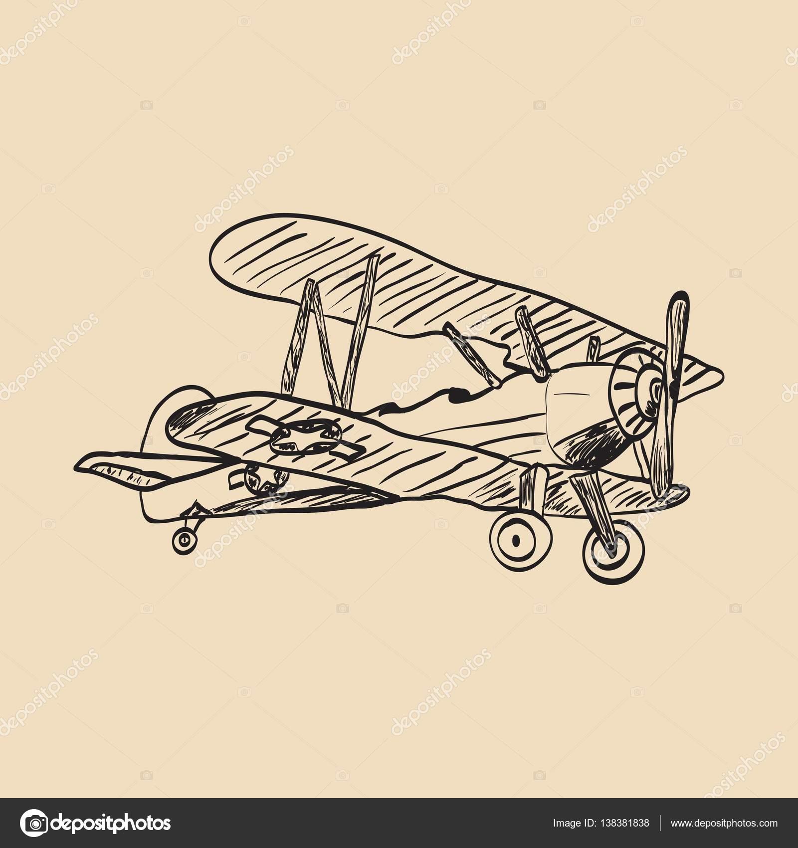 1600x1700 Small Plane Sketch Stock Vector Slasny1988