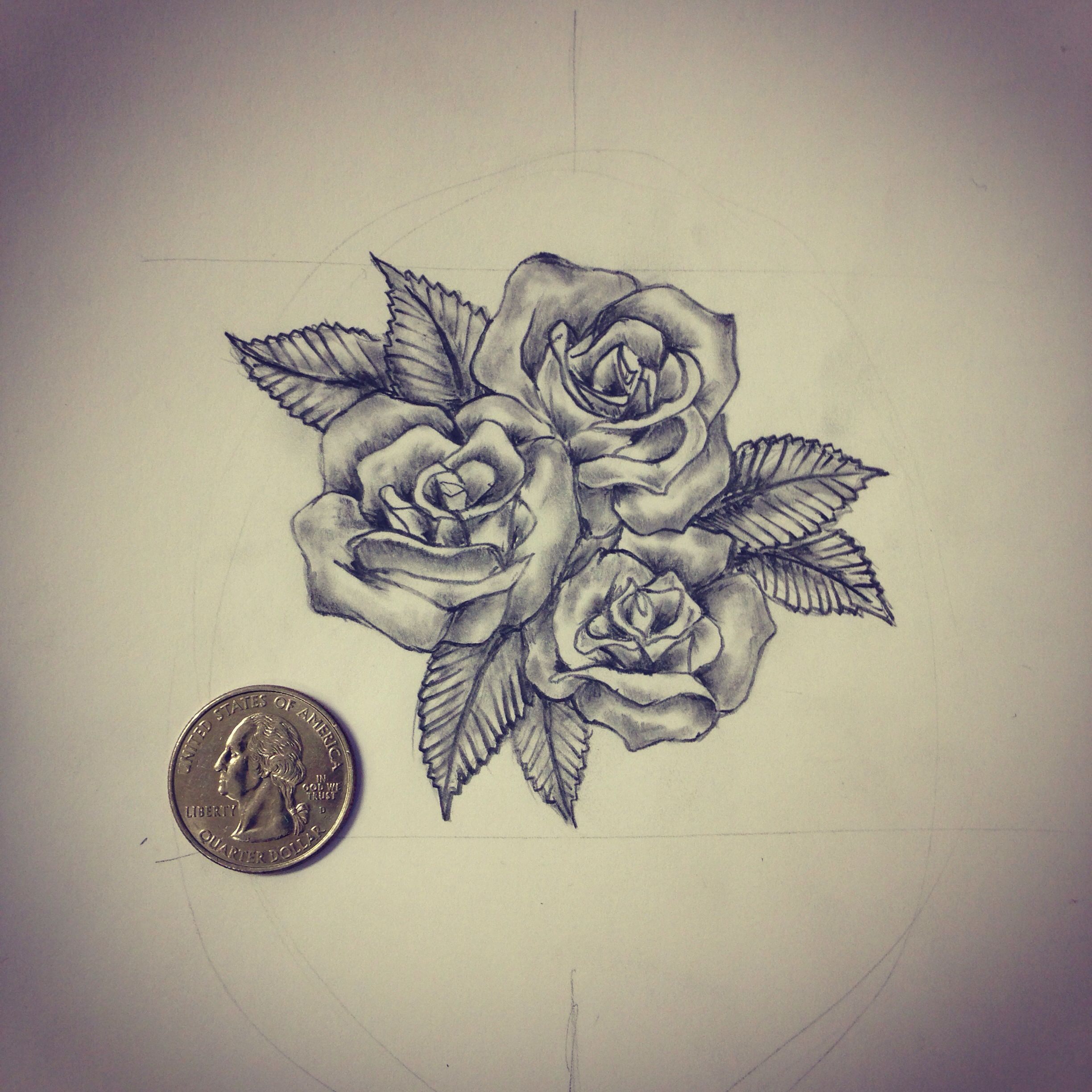 2448x2448 Small Roses Tattoo Sketch Drawing Tattoo Ideas By