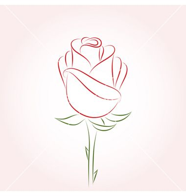 380x400 The 25 Best Rose Outline Ideas On Simple Rose Small