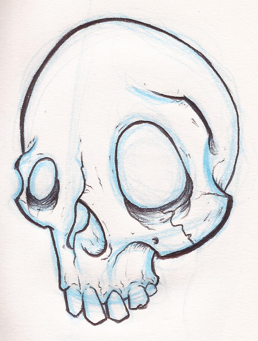 887x1171 Drawn Skull Small