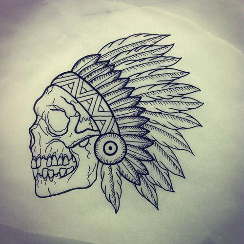 500x500 Indian Skull Tumblr Chris Tattoo, Tatting