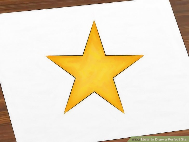 728x546 How To Draw A Perfect Star 13 Steps (With Pictures)