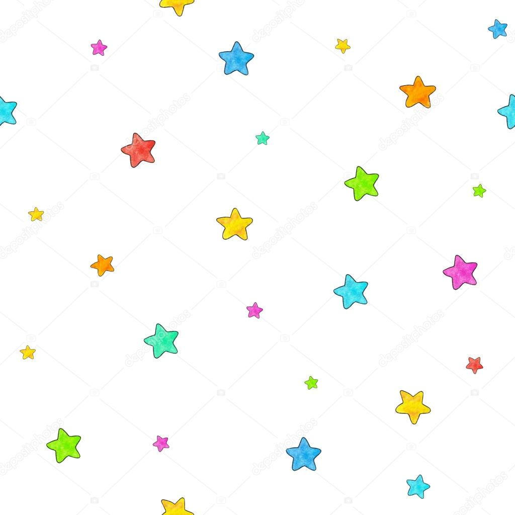 1024x1024 Small Stars Are Isolated On A White Background. Seamless Pattern