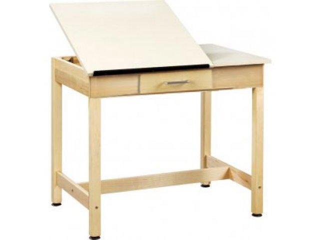 640x480 Drawing Table 2 Piece Top Small Drawer 30, Drafting Amp Art Tables