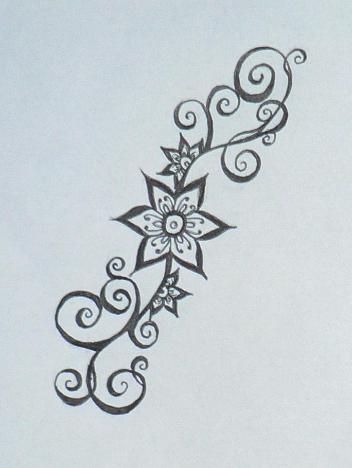 684x910 Simple Henna Flower Designs Smaller Henna Flower Design By