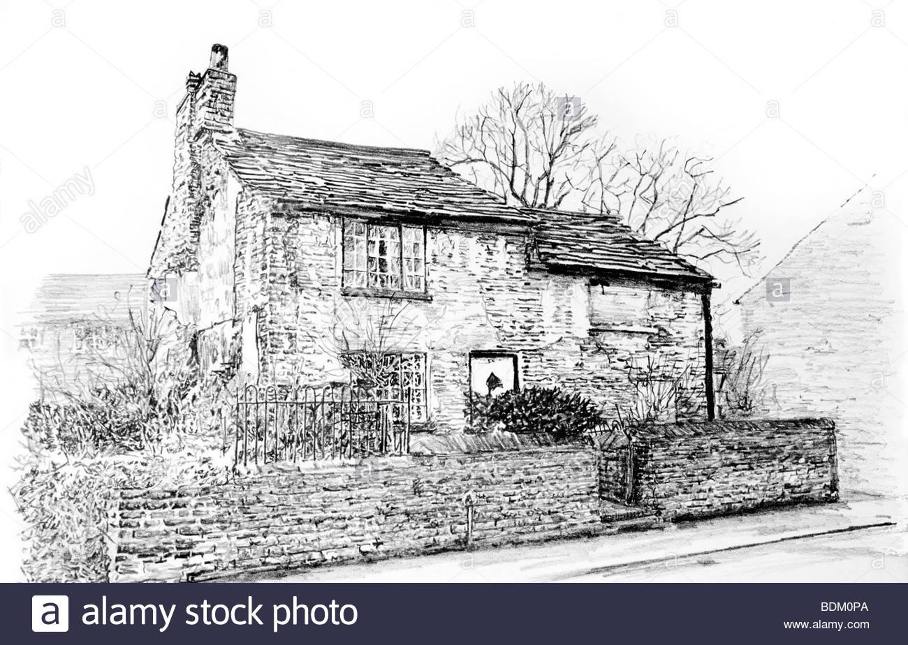 1300x924 UK, Cheshire, Bollington, Palmerston Street, small unrenovated