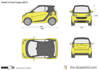 Smart car drawing at getdrawings free for personal use smart 400x283 smart fortwo coupe model 451 vector drawing malvernweather Gallery