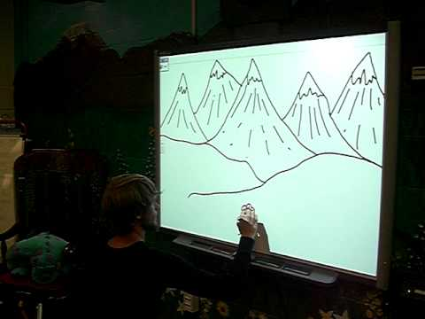 480x360 Nick Drawing On The Smart Board