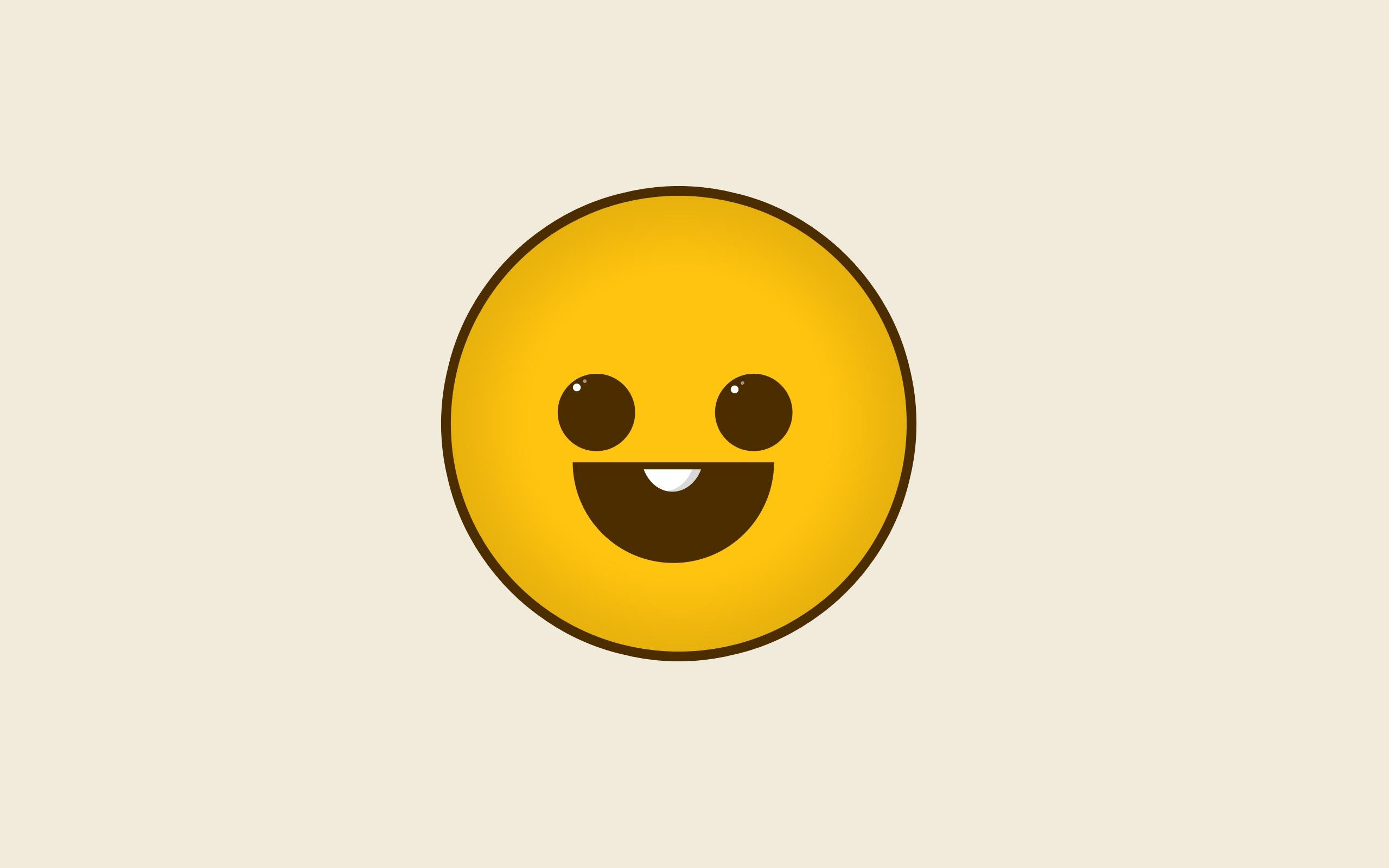 2560x1600 Download Wallpaper 2560x1600 Smile, Drawing, Emotion, Paper