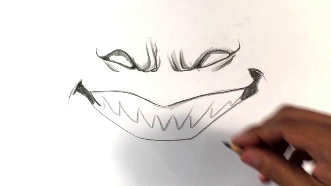 1280x720 How To Draw Scary Smile