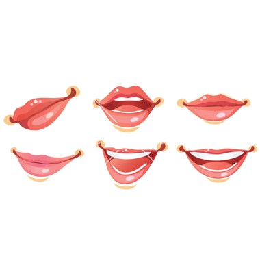 380x400 Sexy Woman Smile Lips Vector On Vectorstock Character People