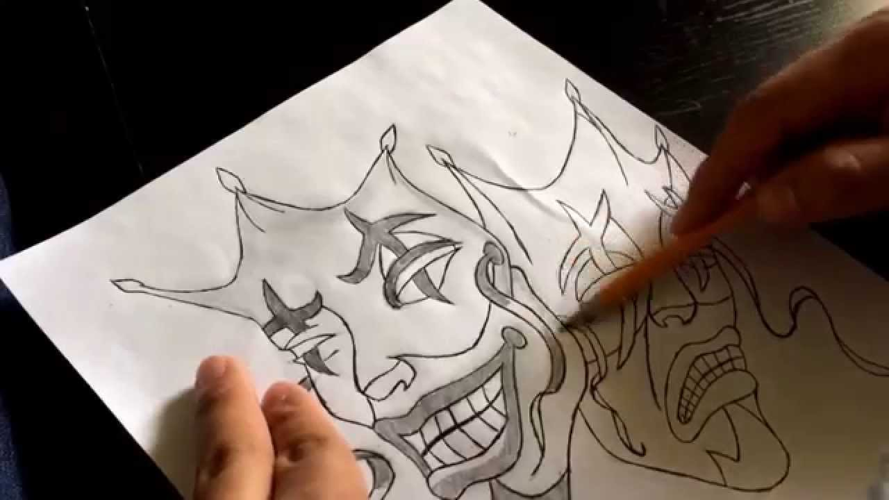 1280x720 How To Draw Smile Now Cry Later Jester Masks Part 3