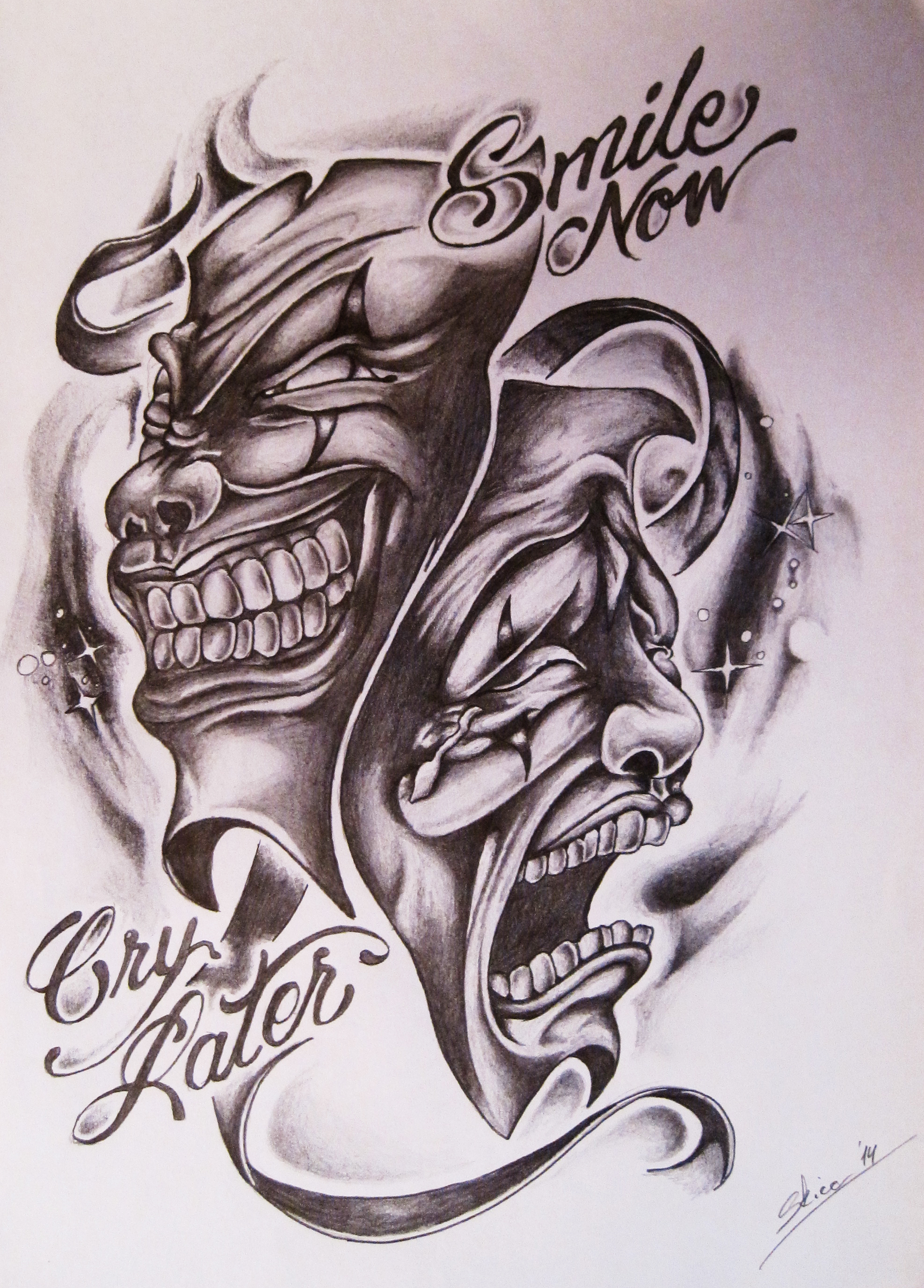 1975x2753 Laugh Now Amp Cry Later Stuff Crying, Tattoo And Chicano