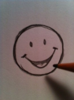260x347 How To Draw A Happy Face Drawings And Face