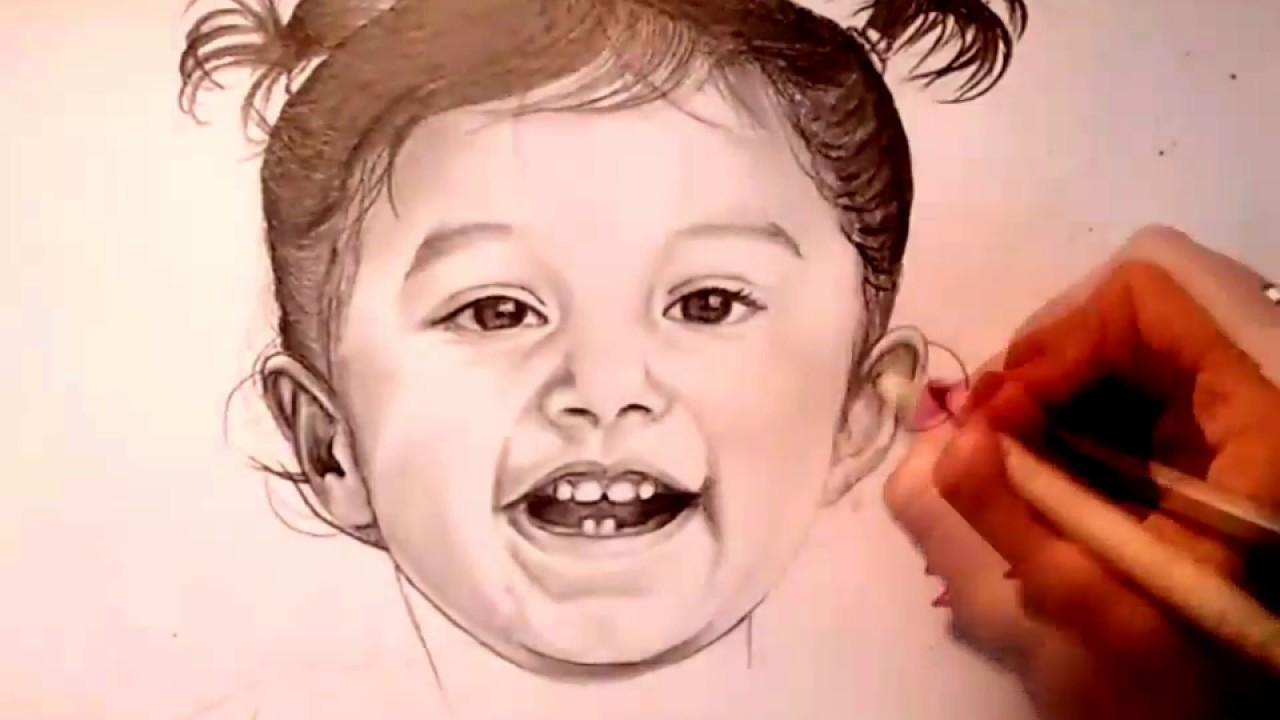 1280x720 How To Draw Smiling Baby Face Speed Drawing