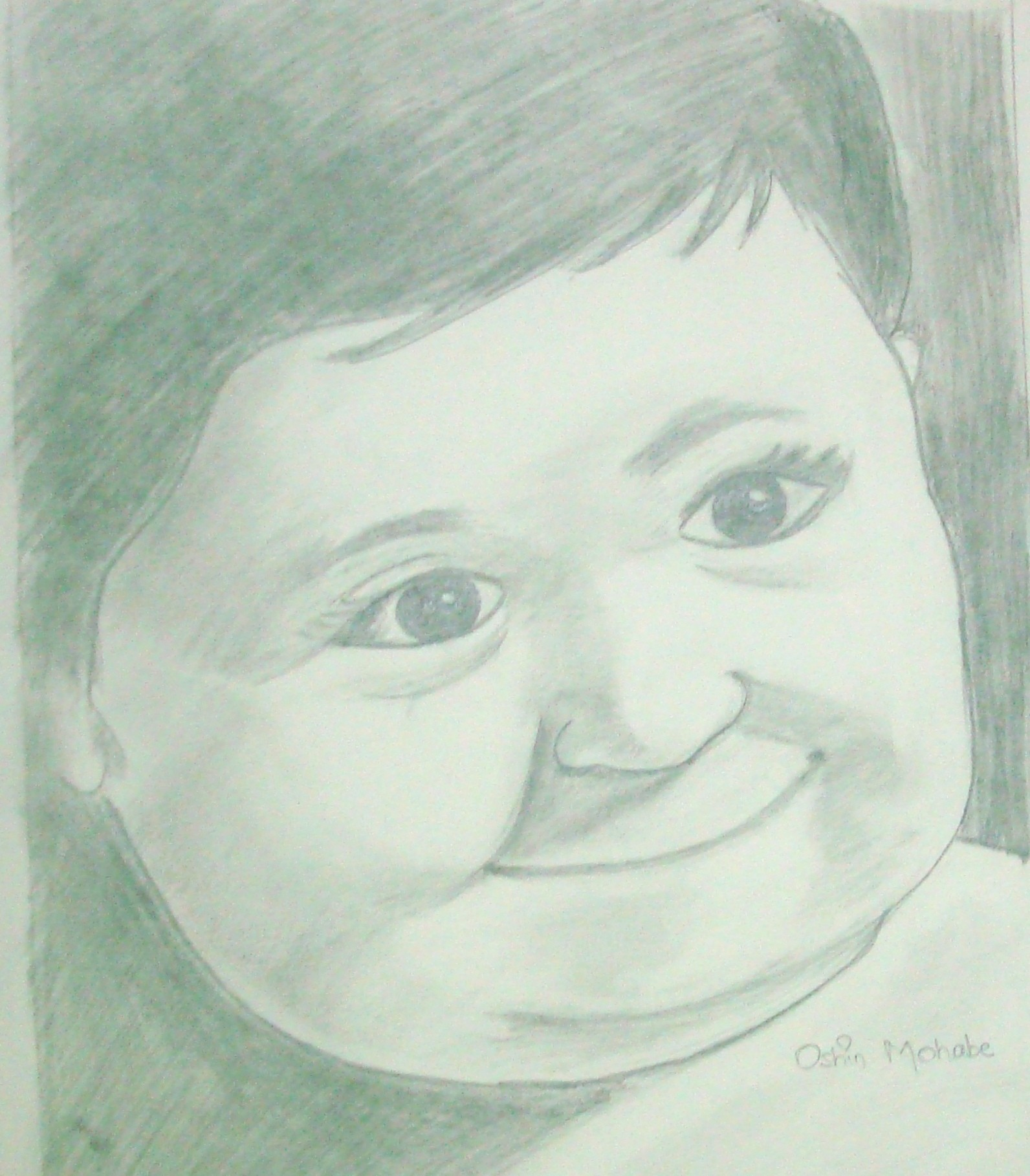 1592x1818 Pencil Sketch Of A Smiling Baby