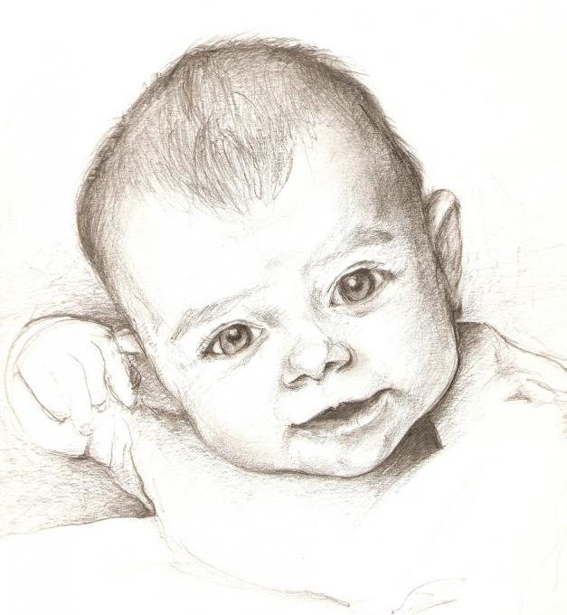 627x680 Smiling Baby. My Family. Drawings. Pictures. Drawings Ideas