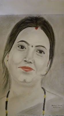 222x400 Akshay Kumar Pencil Sketch Drawing Of Indian Girl Smiling Face