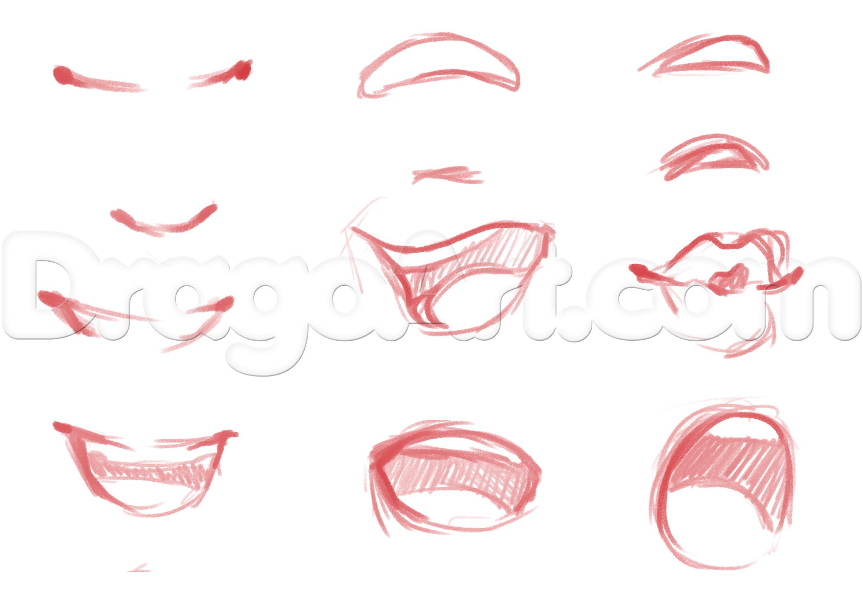 2844x1998 Anime Lips Drawing Drawn Smile Anime