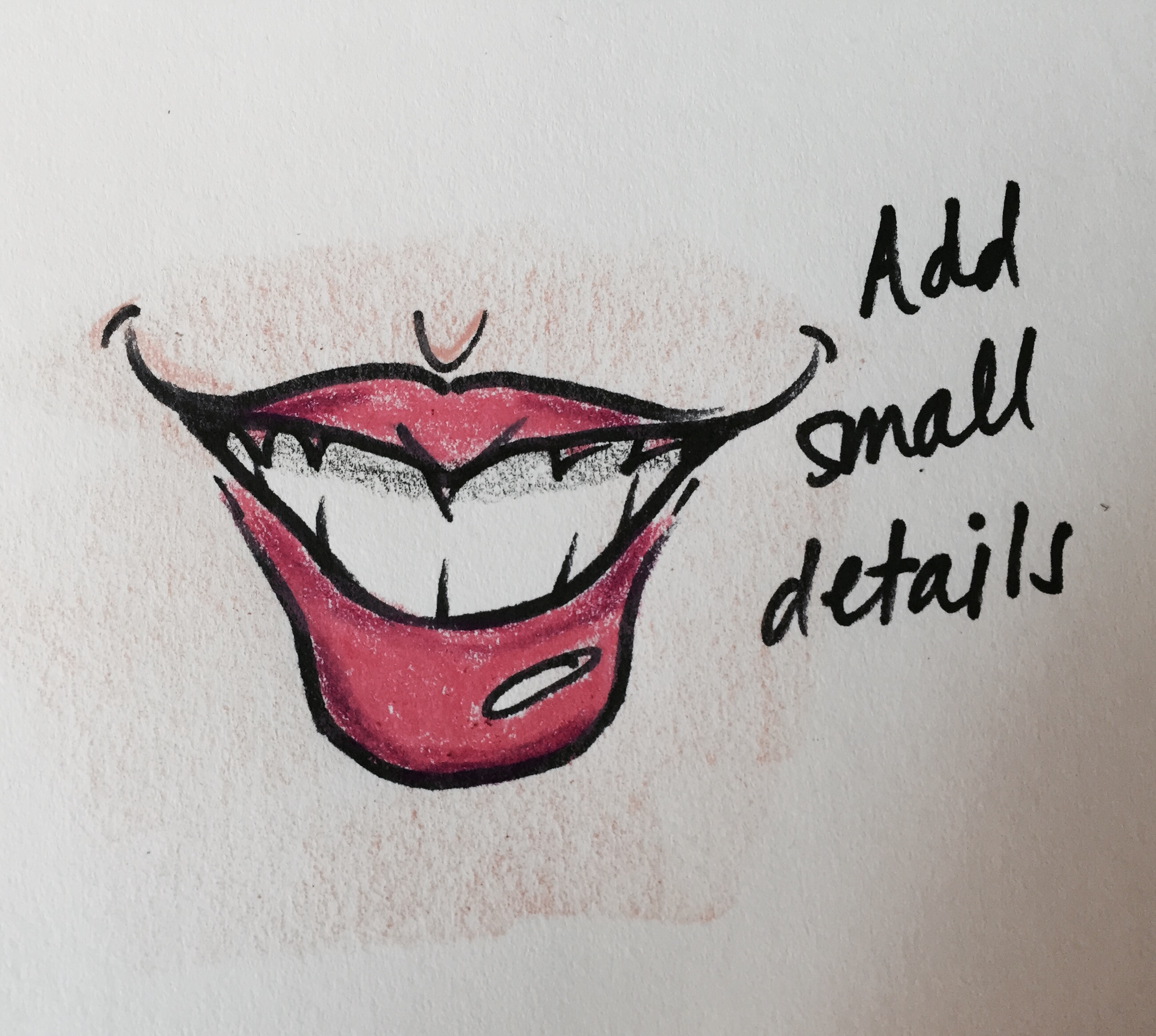 2604x2334 How to Draw Caricatures Smiling Mouth courtneywoolford Art