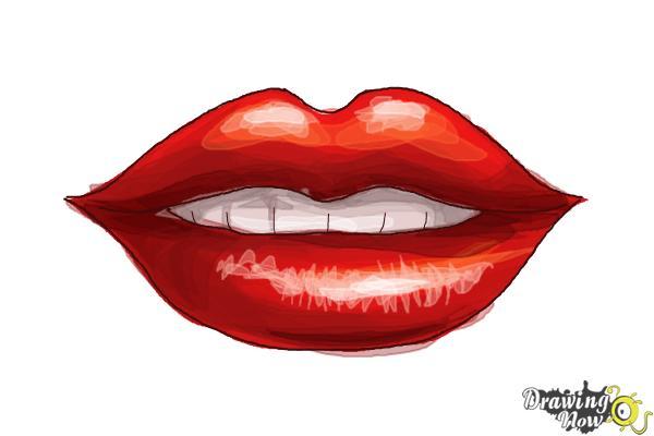 600x400 How to Draw Female Lips