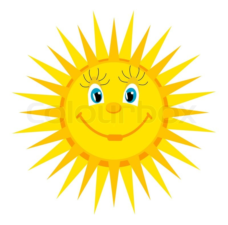 800x789 Smiling Sun Drawing Stock Vector Colourbox