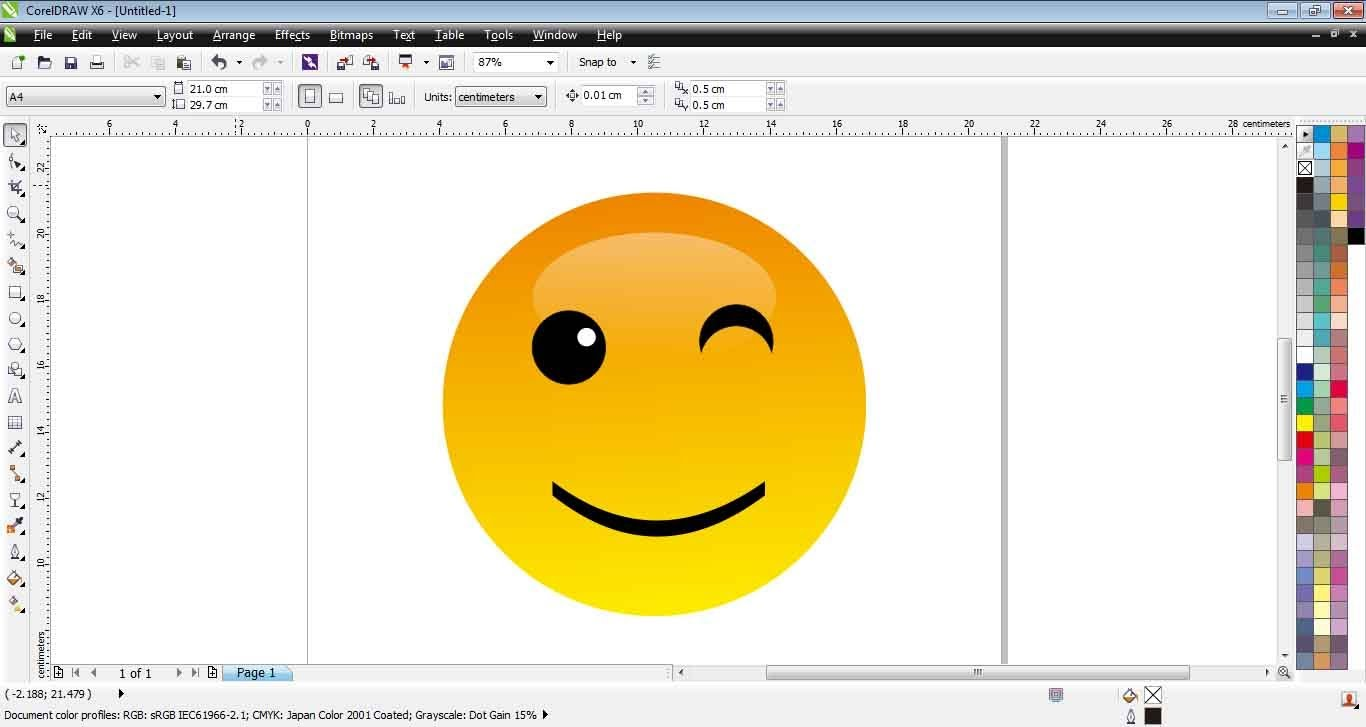 1366x727 How To Create Emoticon Smiley With Corel Draw X6