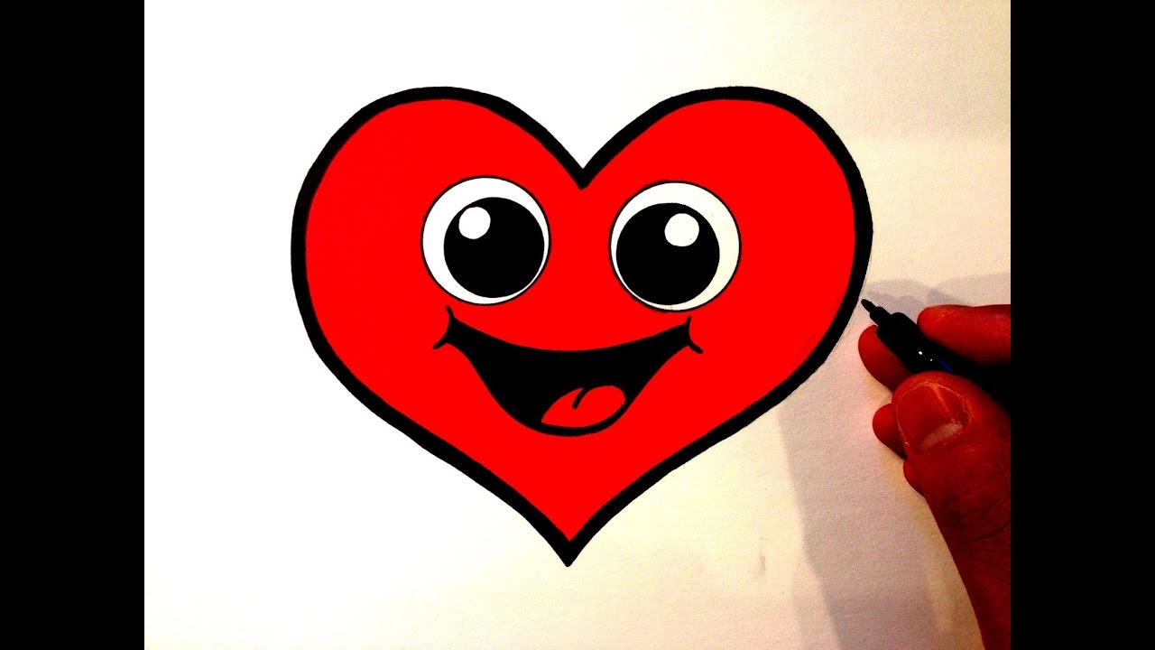 1280x720 How To Draw A Cute Heart Smiley Face