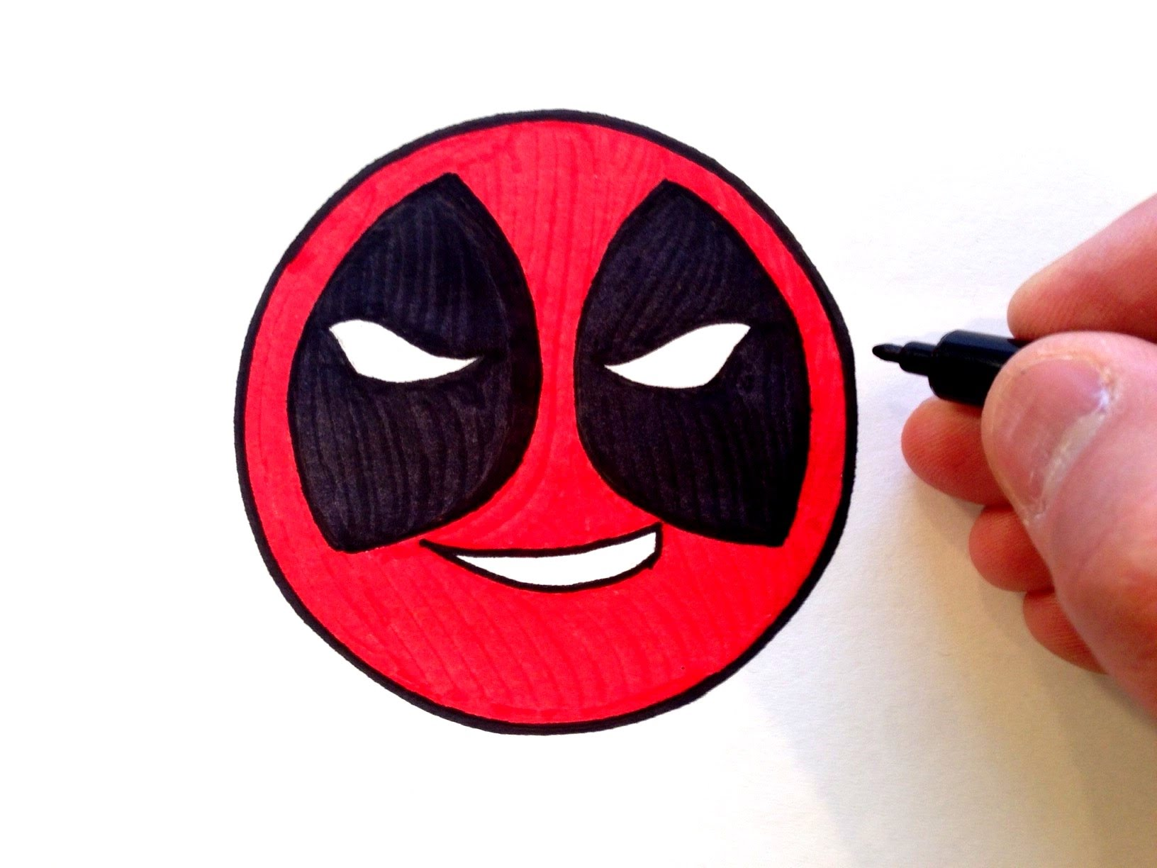 1632x1224 How To Draw A Deadpool Smiley Face