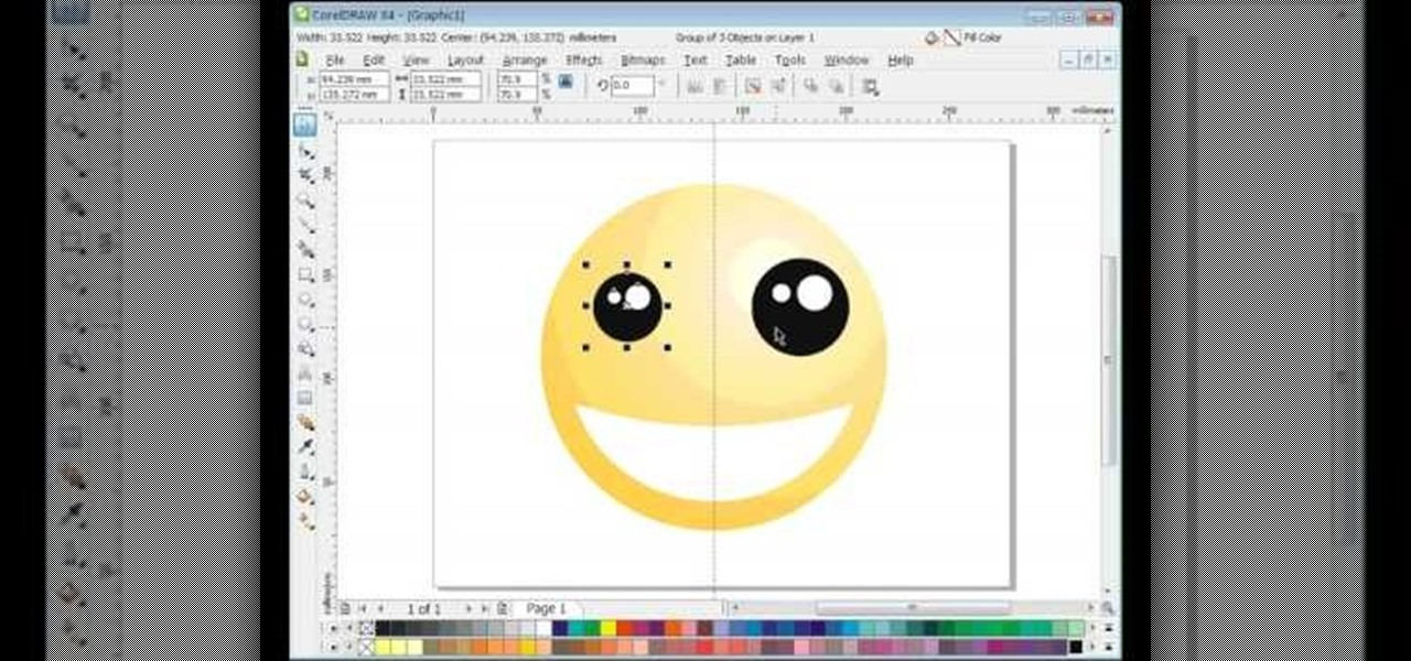 1280x600 How To Draw A Smiley Face In Coreldraw X4 Software Tips