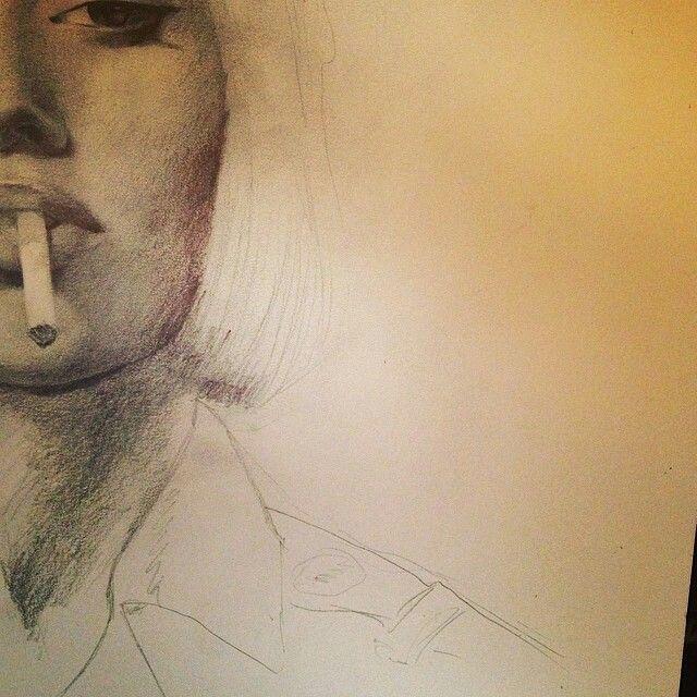 640x640 Kat Von D Kvd Sketch Drawing Pencil Illustration Art