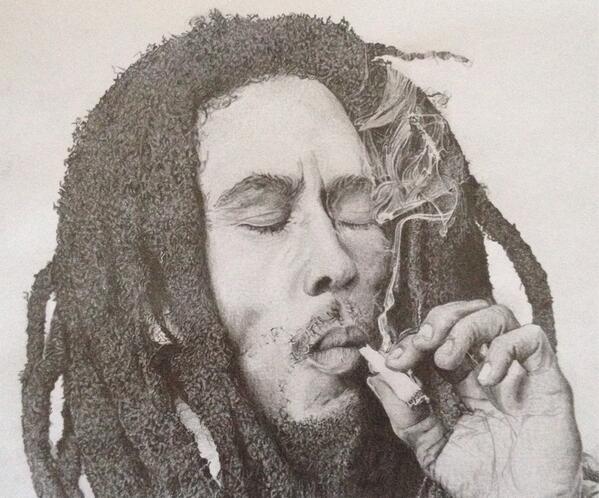 599x498 Wil Stevenson On Twitter Bob Marley Pencil Drawing.
