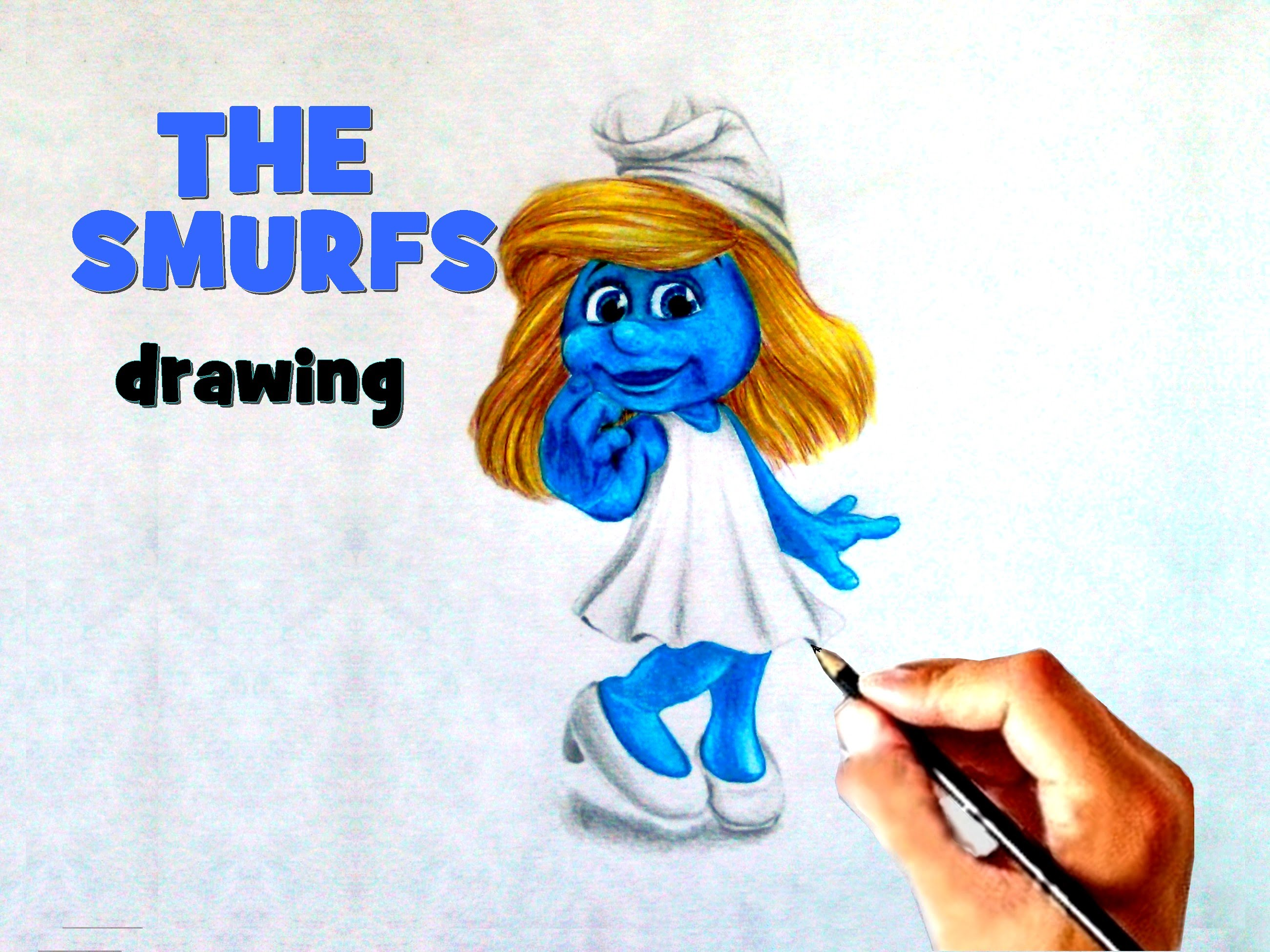 smurfs drawing at getdrawings | free for personal use smurfs