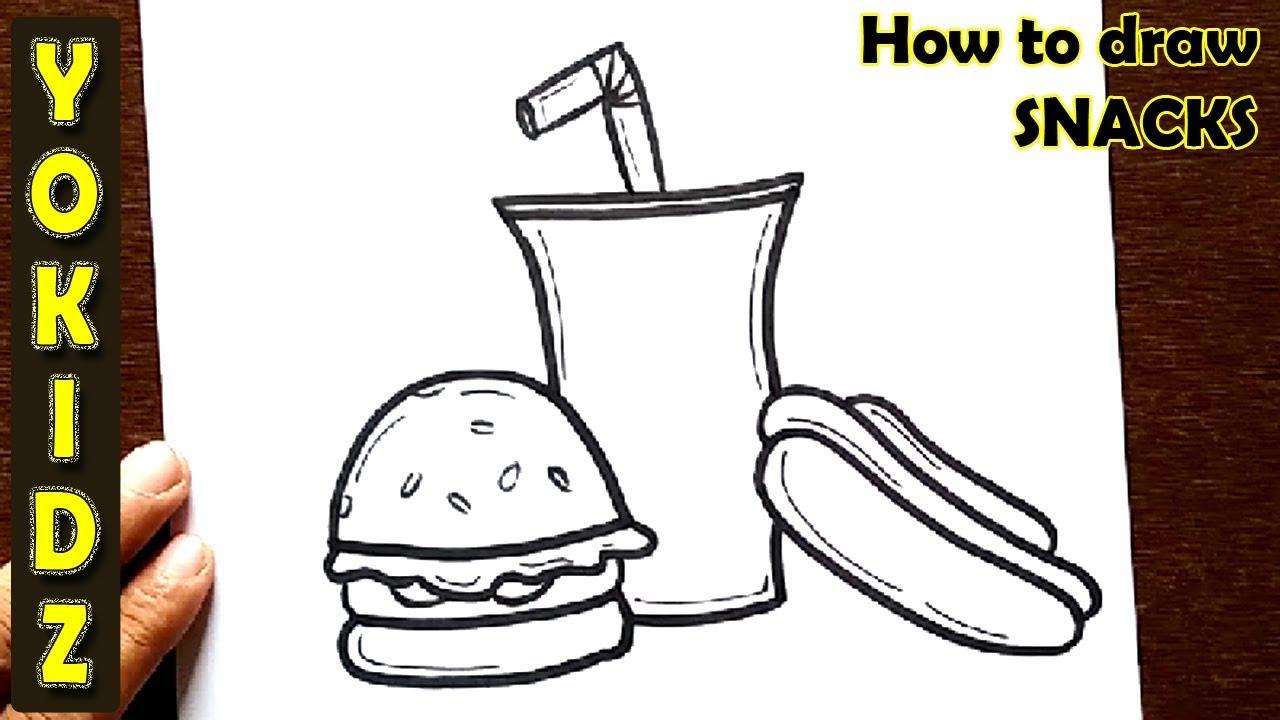 1280x720 How To Draw Snacks