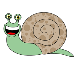 250x226 Cartoon Snail Step By Step Drawing Lesson