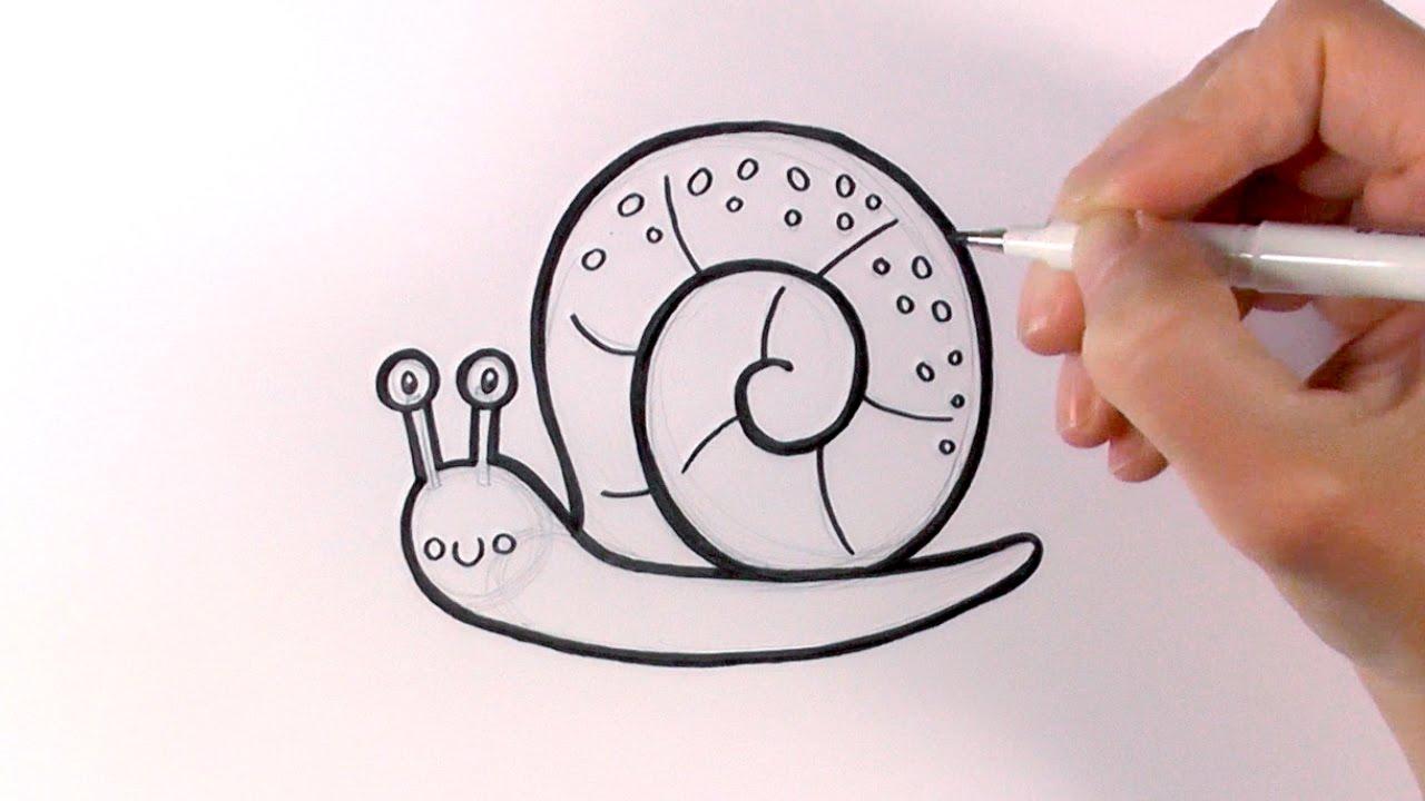 1280x720 How To Draw A Cartoon Snail