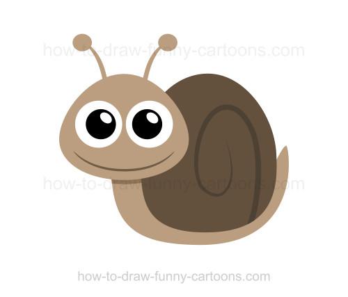 500x427 To Draw A Snail