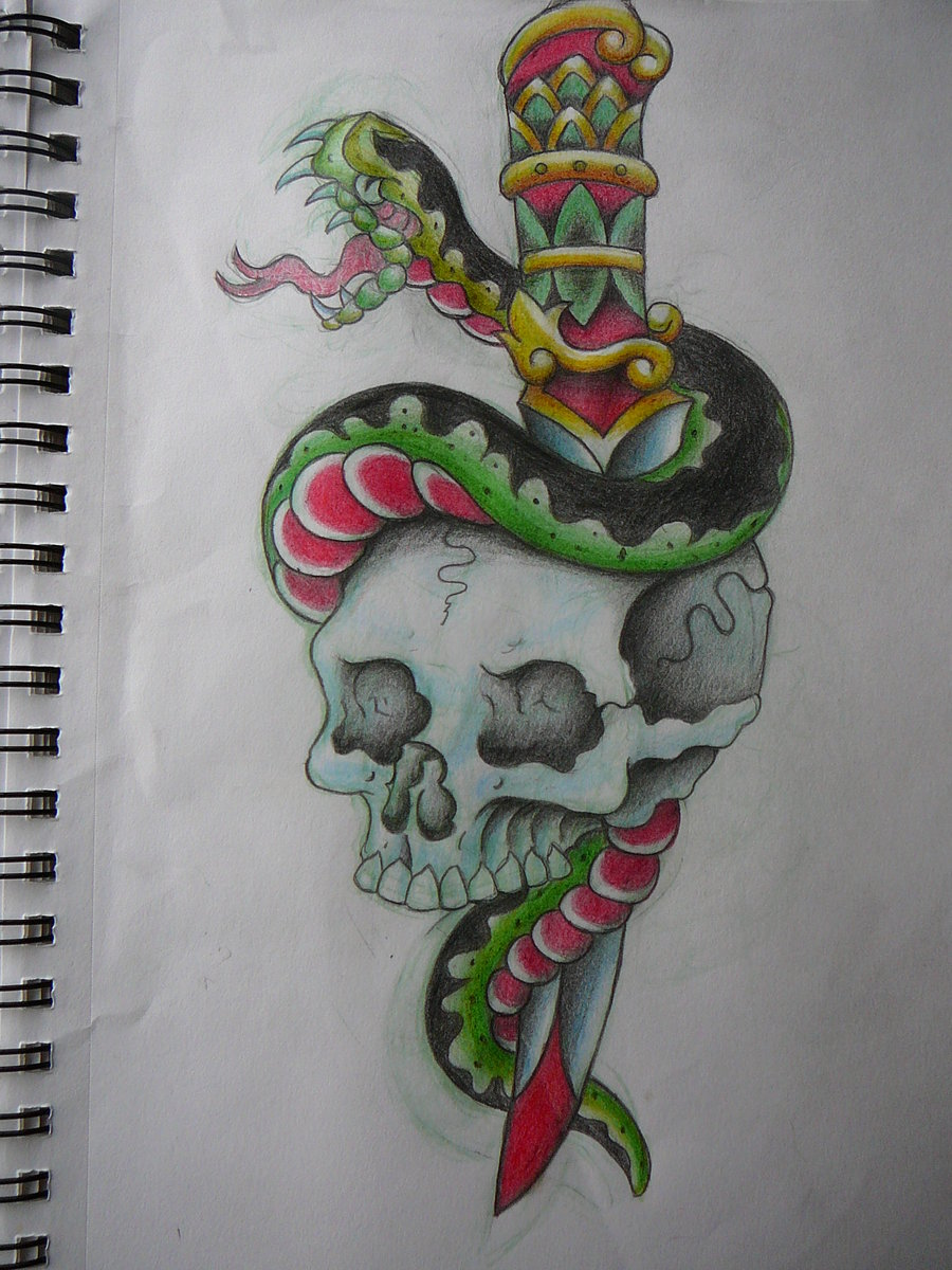 900x1200 Dagger Doodle Traditional Free Download Tattoo 7232 skulls