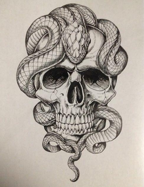 488x635 snake tattoo flash