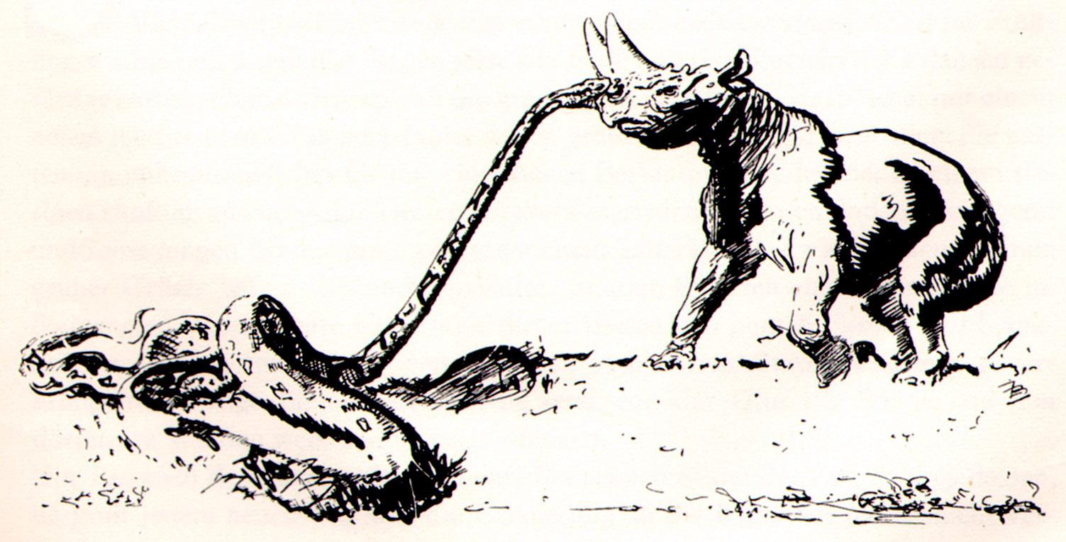 1503x764 ZdenÄ›k Burian Arsinoitherium Snake Bite