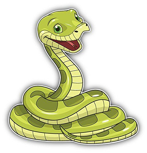 480x500 Happy Snake Cartoon Animal Art Decor Bumper Sticker 5'' X Https