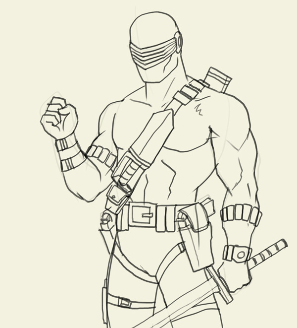600x661 How to draw Snake Eyes