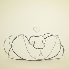 236x236 cute snake drawing