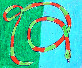 320x265 Over And Under Snake Art Projects For Kids