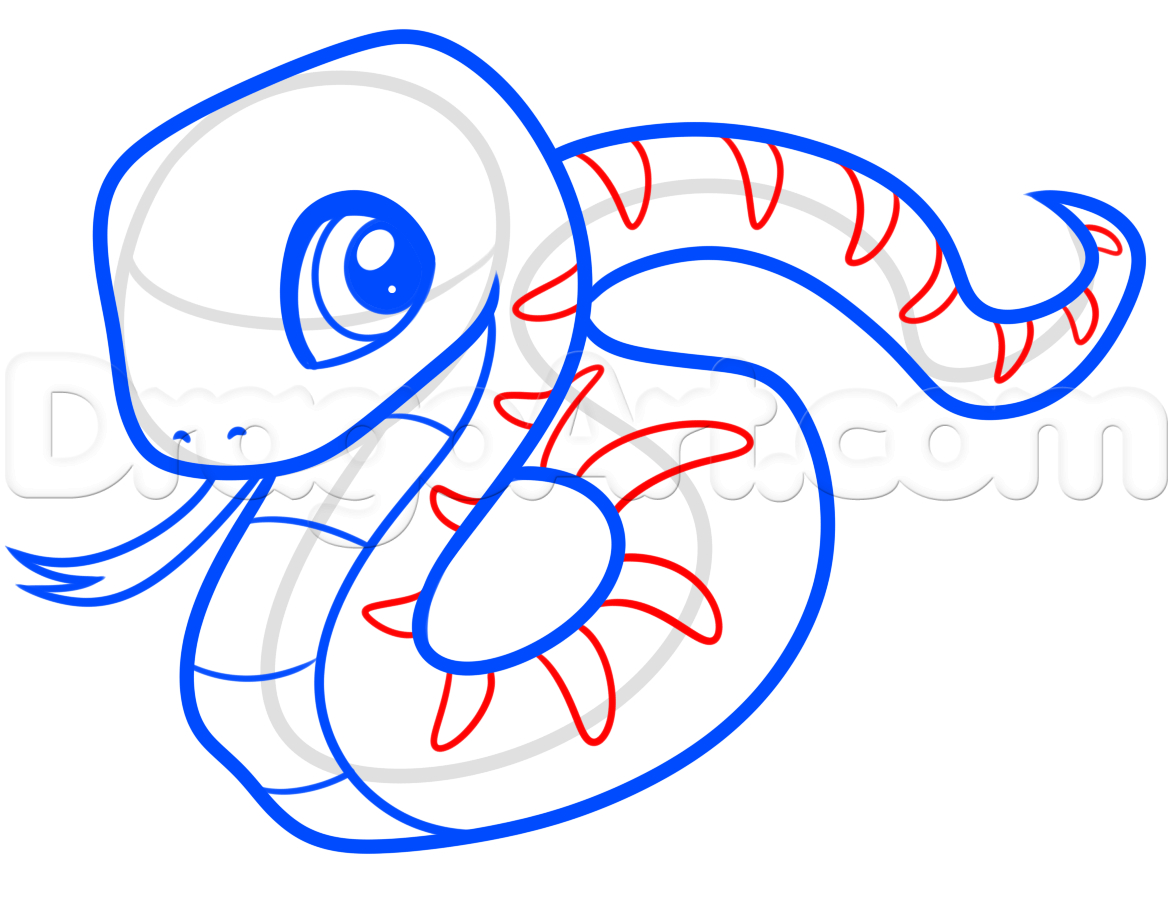 1173x899 A Drawing Of A Snake Draw A Snake For Beginners, Step By Step