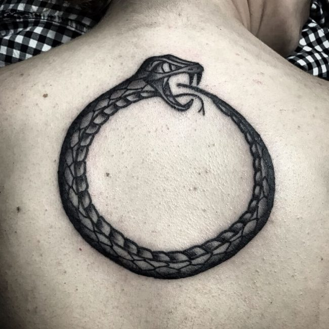 650x650 Mythical Ouroboros Tattoo Ideas What Goes Around Comes Around