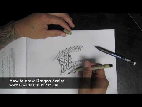 480x360 How To Draw Scales For A Dragon Or Khoi Fish Tattoo