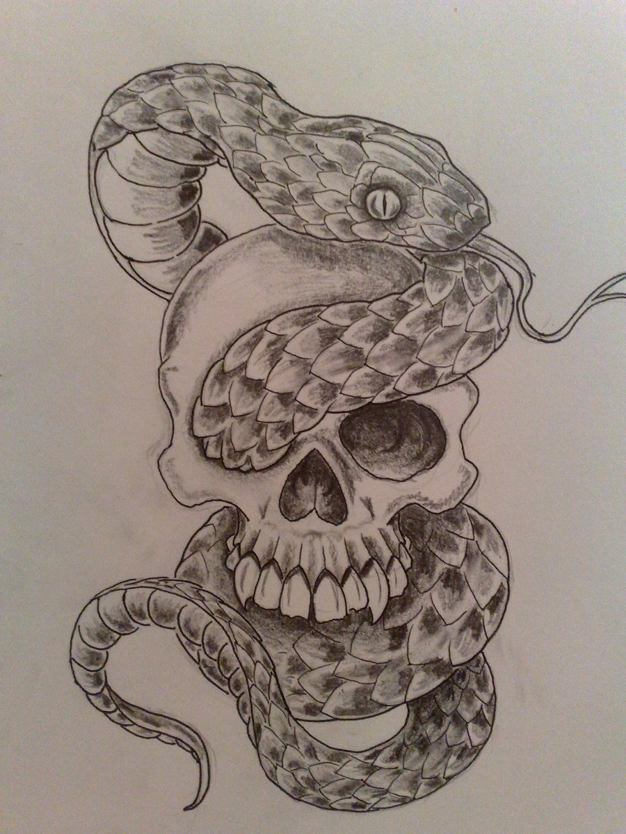 Snake Tattoo Sketch at PaintingValley.com | Explore ... |Snake Tattoo Sketches
