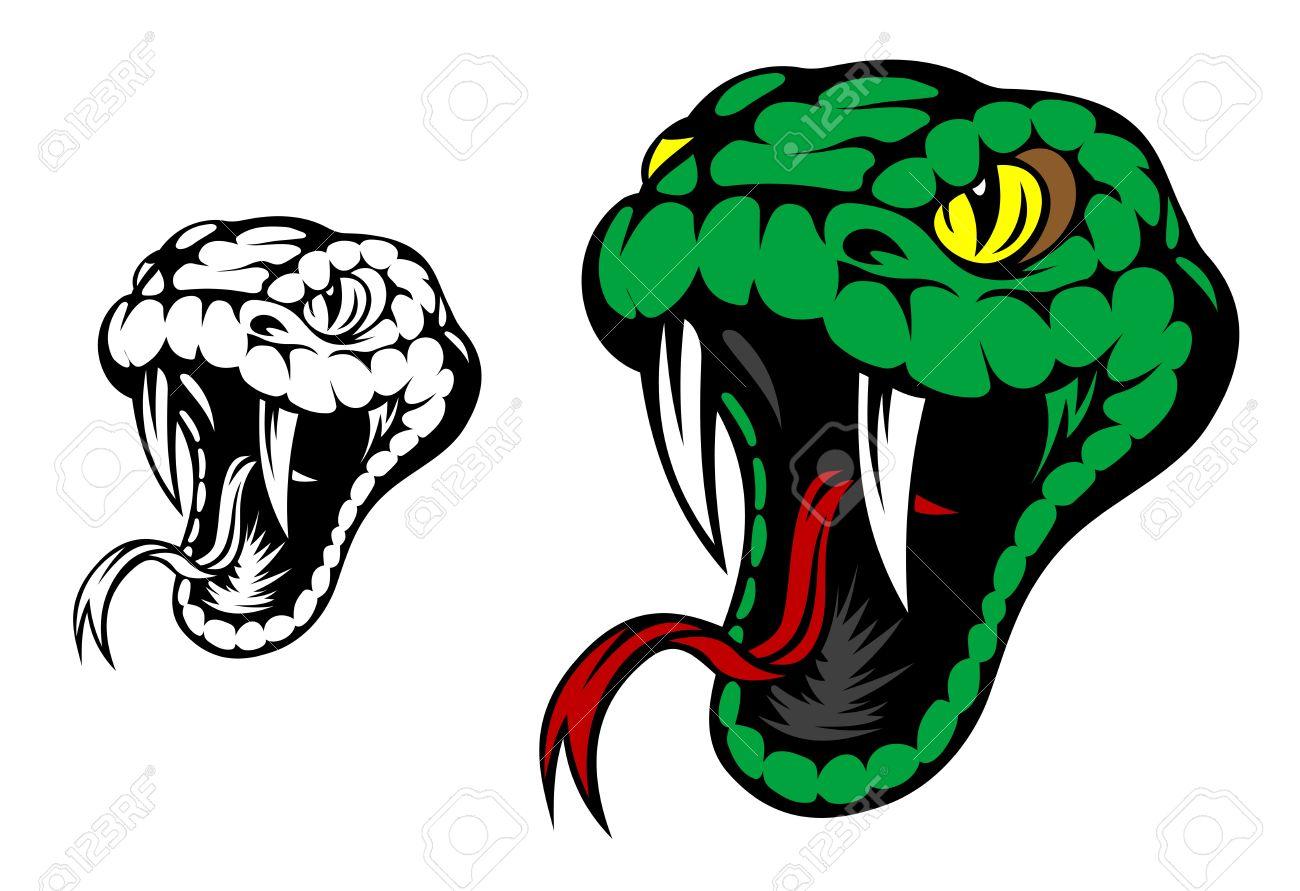 1300x891 Head Of Danger Aggressive Snake For Mascot Design Royalty Free