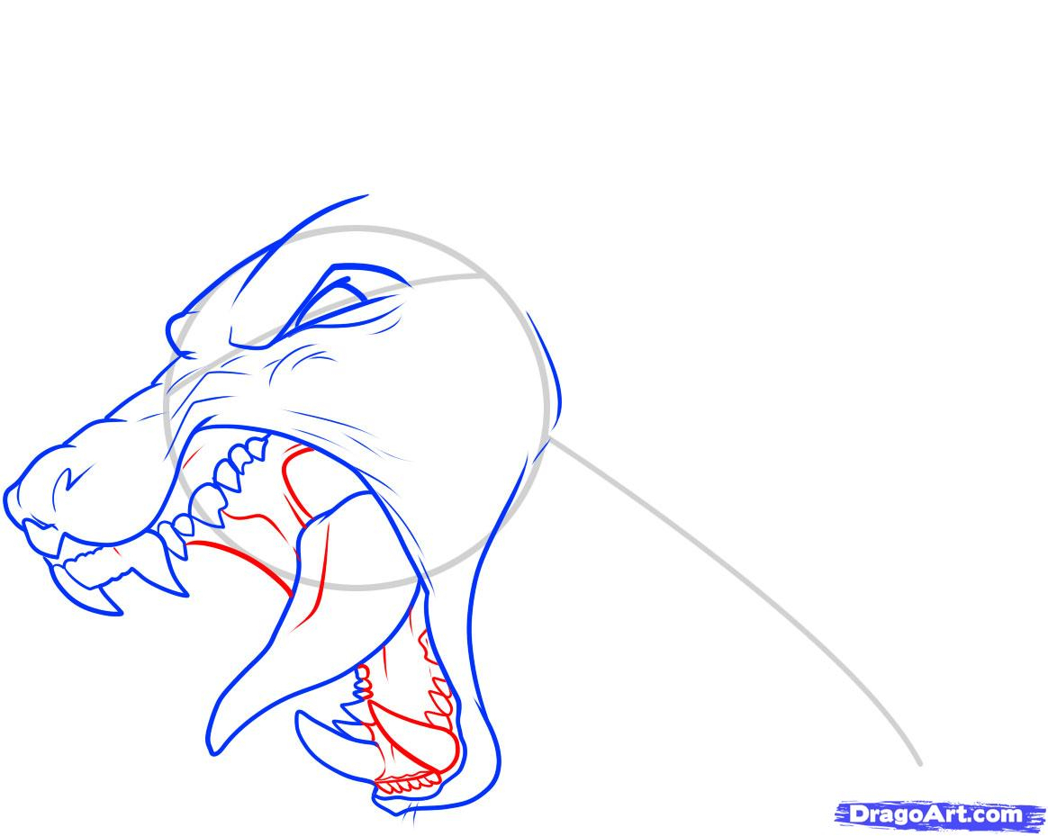 1164x929 Open Mouth Front View Drawing How To Draw A Dog Head, Stepstep